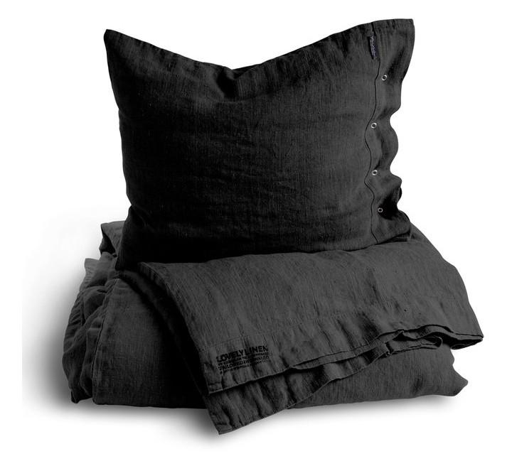 Hochwertige Leinenbettwäsche von Lovely Linen in graphitfarben