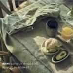 Tischdecke in Avocado - Die neue Farbe 2019 von Lovely Linen