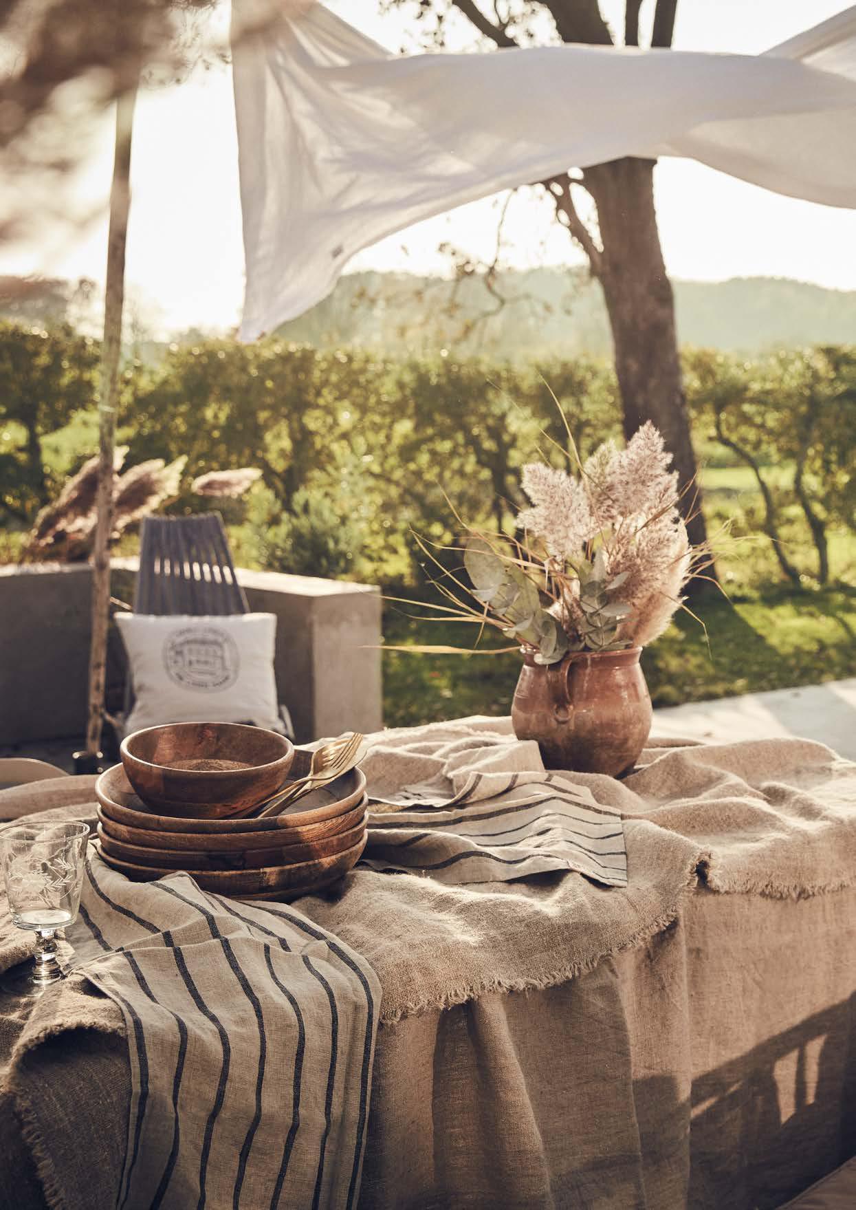 Tischdecken und Täufer Stripes von Lovely Linen