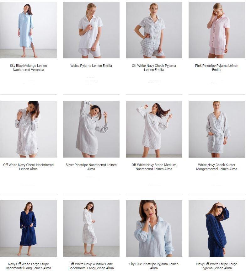 Leinen Nachthemden und Schlafanzüge2